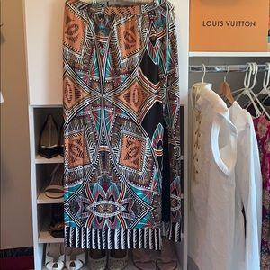 Tribal Anthropologie Maxi Skirt with Slit